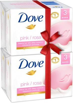 Dove Pink Rose Soap Super Saver Pack  (6 x 100 g)