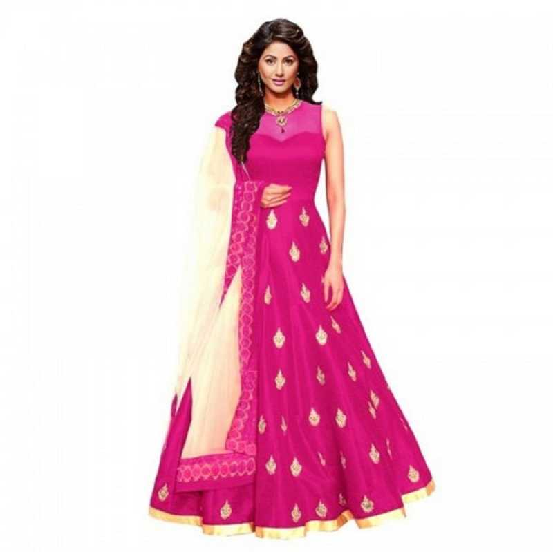 Art Silk Semi Stitched Anarkali Gown