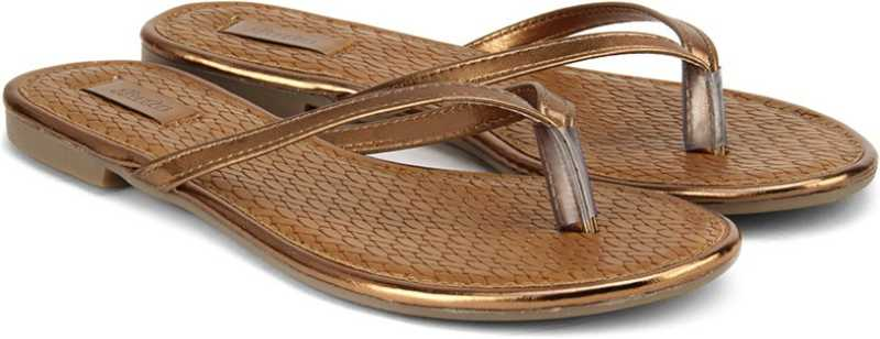 Bata Women Brown Flats Sandal