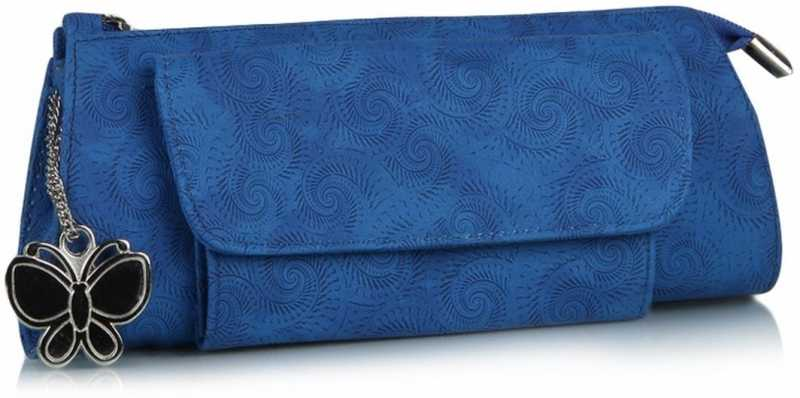 Butterflies Women Casual, Formal Blue Artificial Leather Wallet