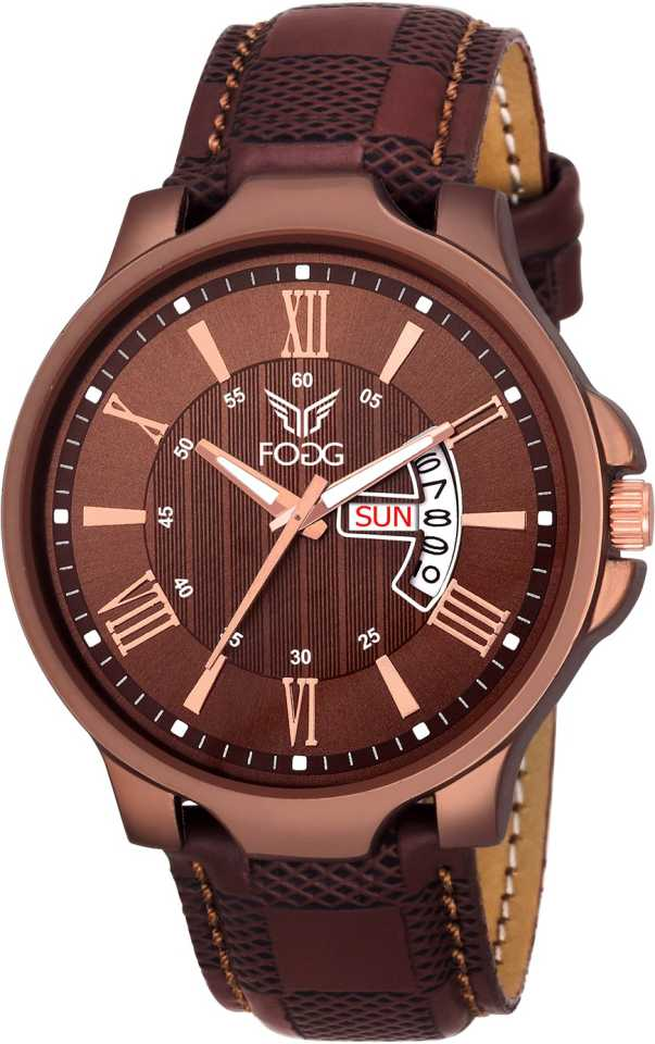 Fogg Brown Day and Date Unique New Analog Watch