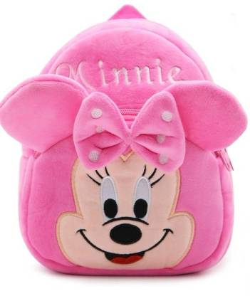 Frantic Minnie Velvet School Bag for Nursery Kids