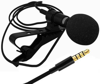 LS Letsshop 3.5mm Clip Microphone For Youtube | Collar Mike for Voice Recording