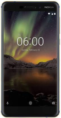 Nokia 6.1 (Gold, Blue, 64 GB)  (4 GB RAM) - 16MP Rear Camera
