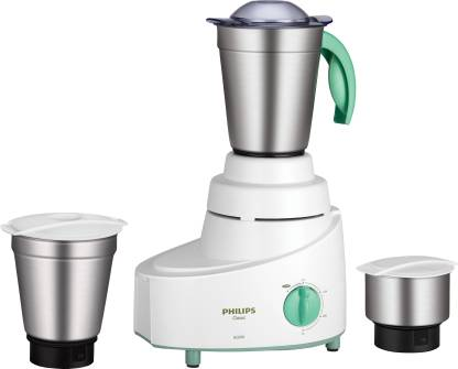 Philips HL1606/03 500 W Mixer Grinder  (Green, 3 Jars)