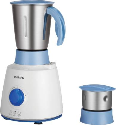 Philips HL7600/04 500 W Mixer Grinder  (White, Blue, 2 Jars)