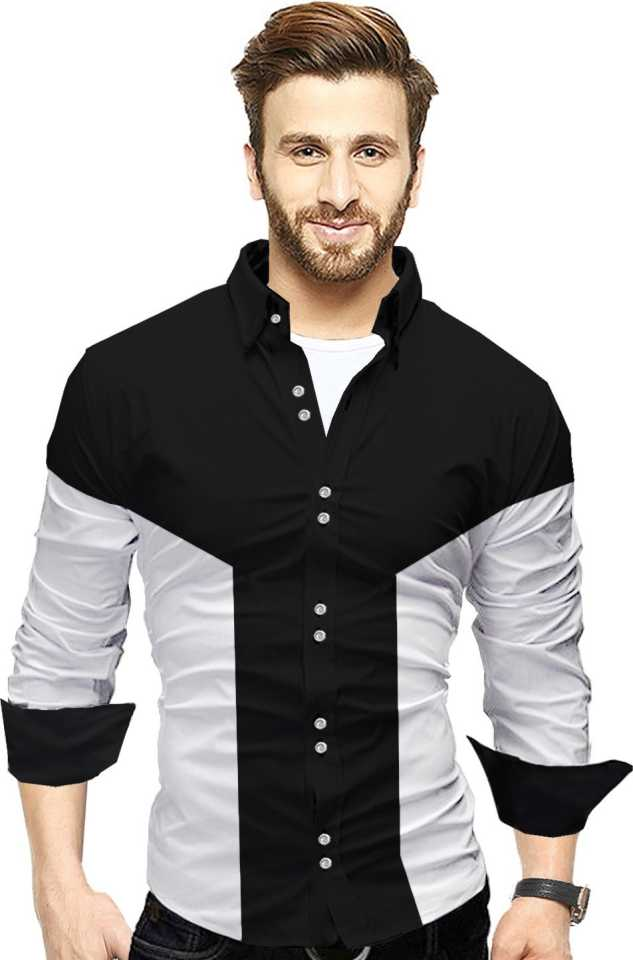Men Colorblocked Casual Shirt