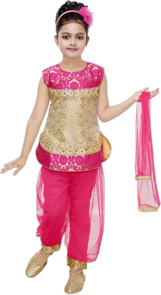 Girls Festive & Party Kurti, Patiala and Dupatta Set